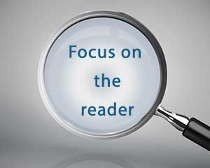 Focus on the reader