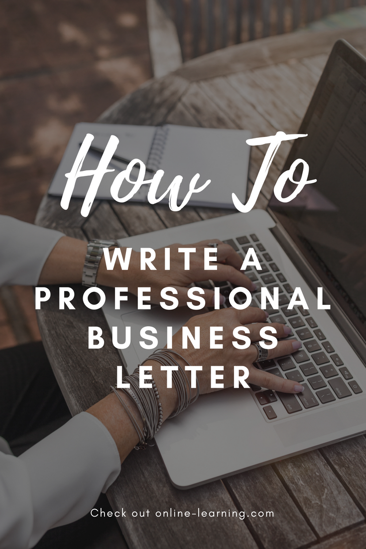 How To Write A Professional Business Letter  Part   Online